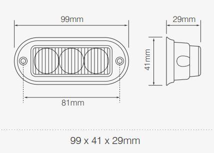 Directional Warning Lamps LEDR65 Series