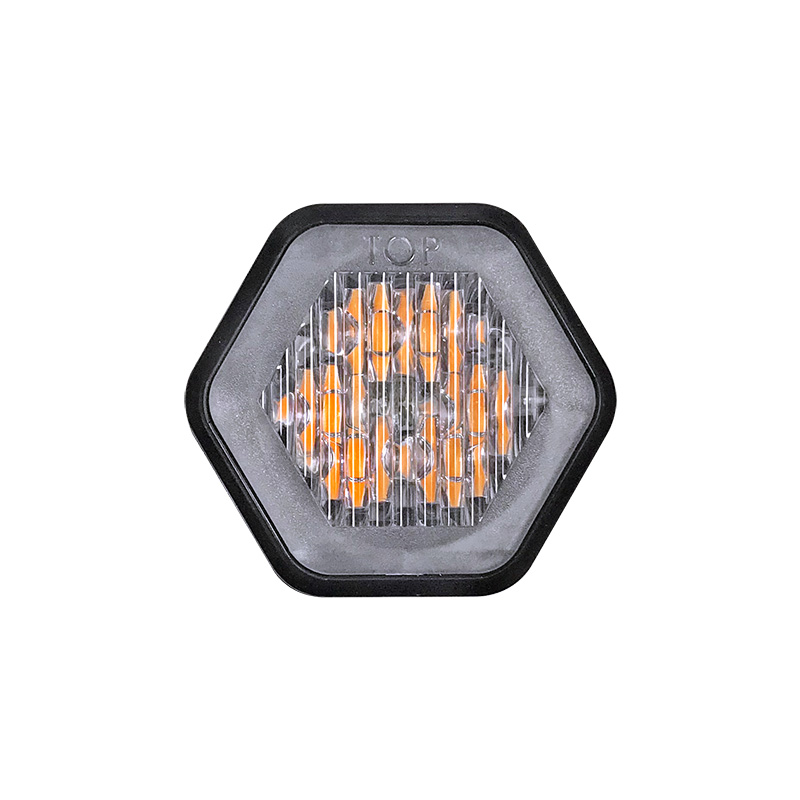 Recess mount LED warning lamp R65 approved