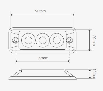 Super-slim warning Lamps - SSLED Series