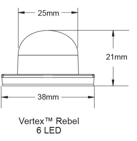 Whelen Vertex™ Series Super-LED® Lighthead