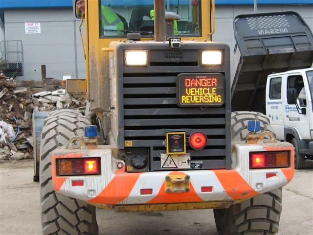 Reversalert Rear LED message sign
