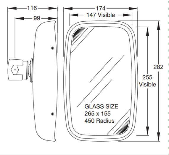7112.020.A Series Universal Fit Mirror