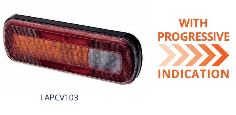 LAP CV103 rear lamp with progressive indicator