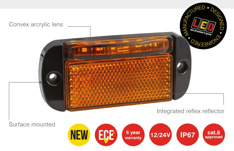 44 Series Low-Profile Side Marker + Indicator Lamp