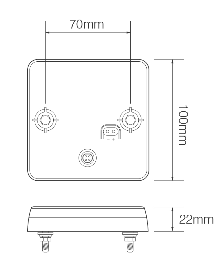 100 Series compact combination lamp