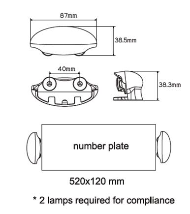 LAP LED Number Plate Lamp