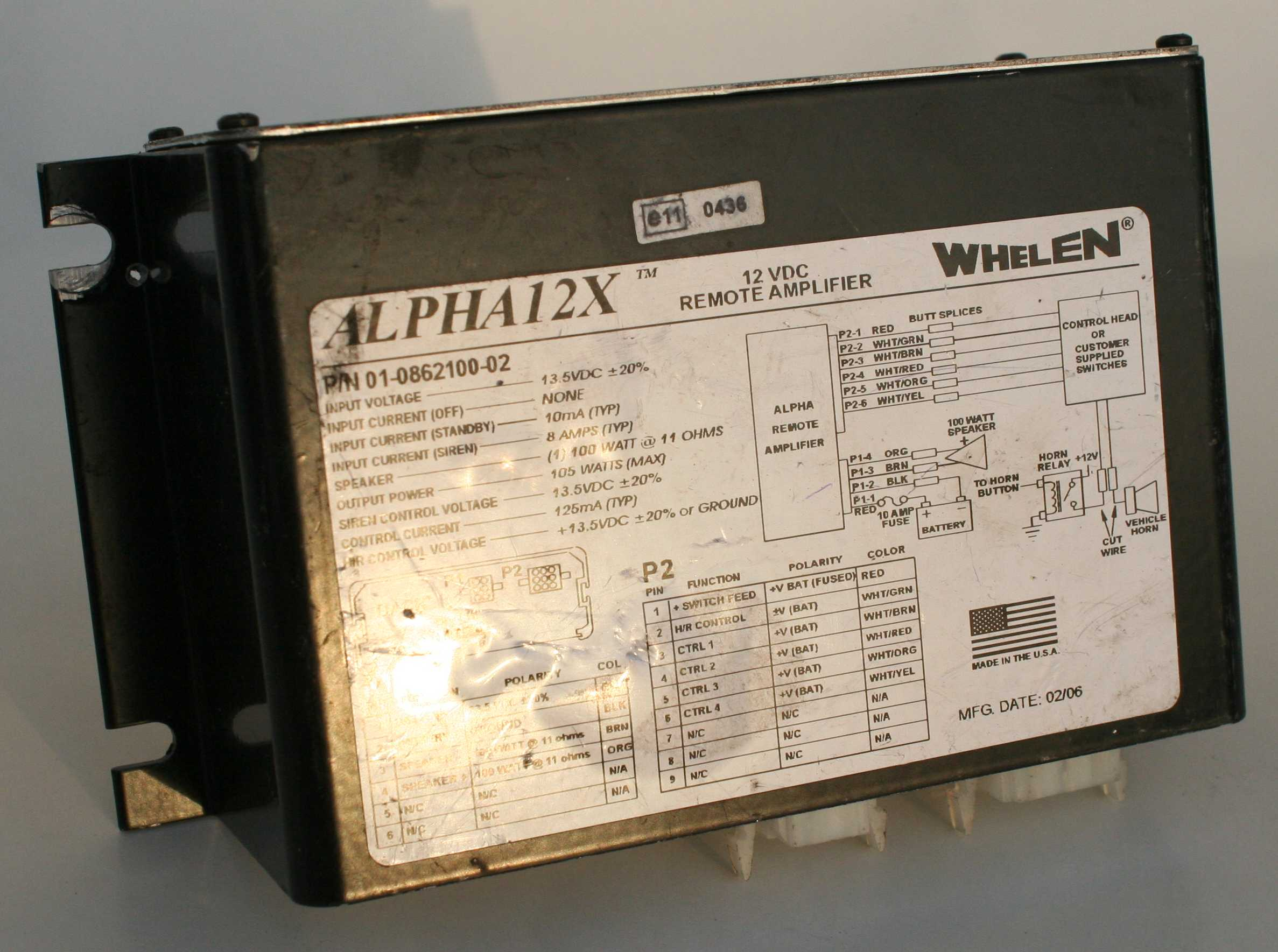 Whelen Alpha 12X Siren Amplifier