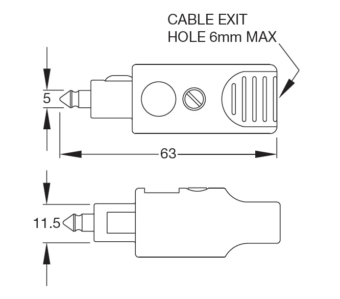 Britax single pole DIN plug