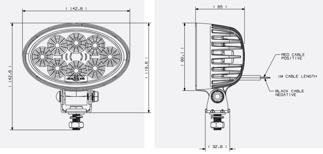 Britax L81 LED 1200 lumen work lamp