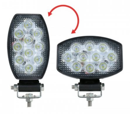 LED Autolamps Oval Flood Lamp Horizontal or Vertical Mount