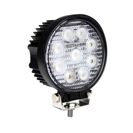 LED Autolamps Round 9 x 3W LED Work Lamp
