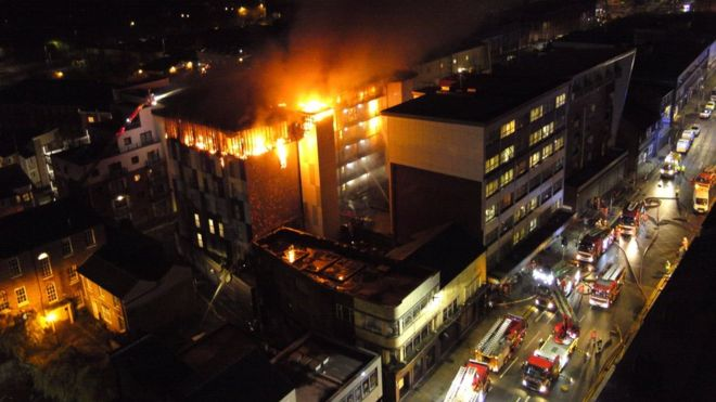 Fears over student buildings across the UK after Bolton blaze