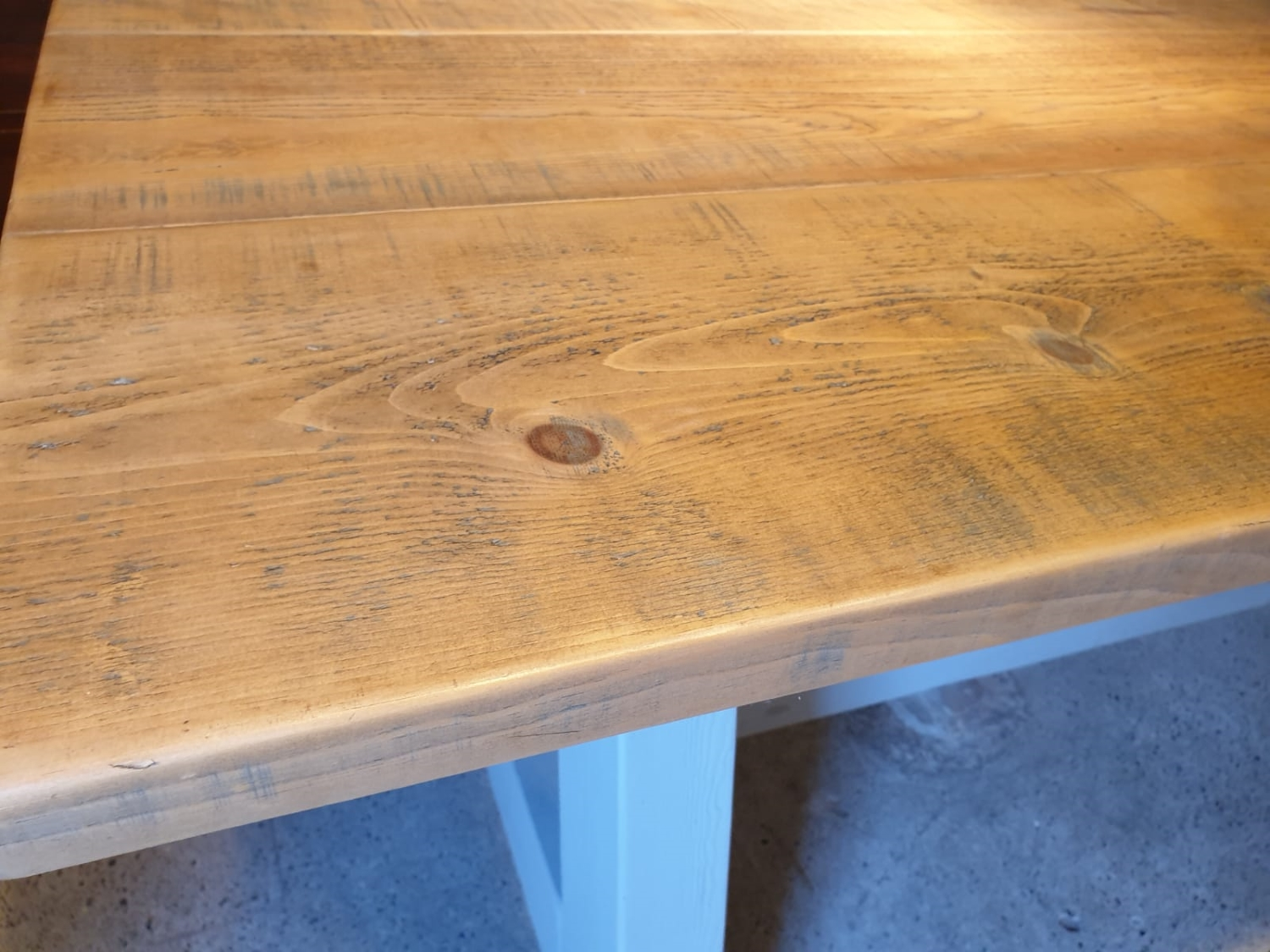 Rustic Pine A-Frame Dining Table