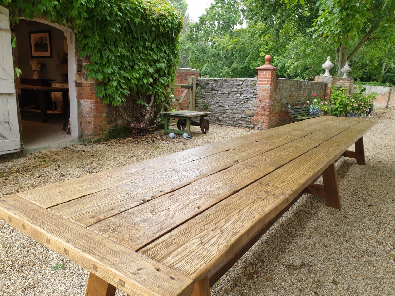 19th Century Period Dining Table 6m Long, Seats 24 with Comfort