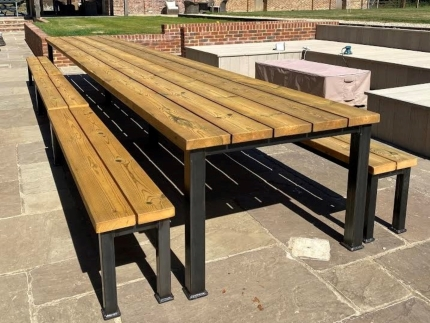 Outdoor Industrial Table