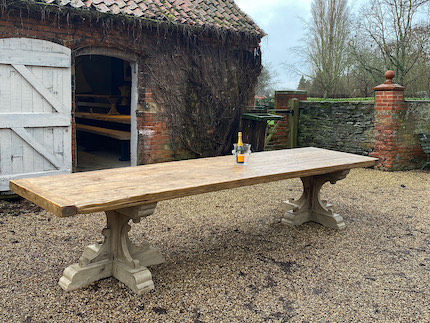French Rustic 19th Century Refectory Table