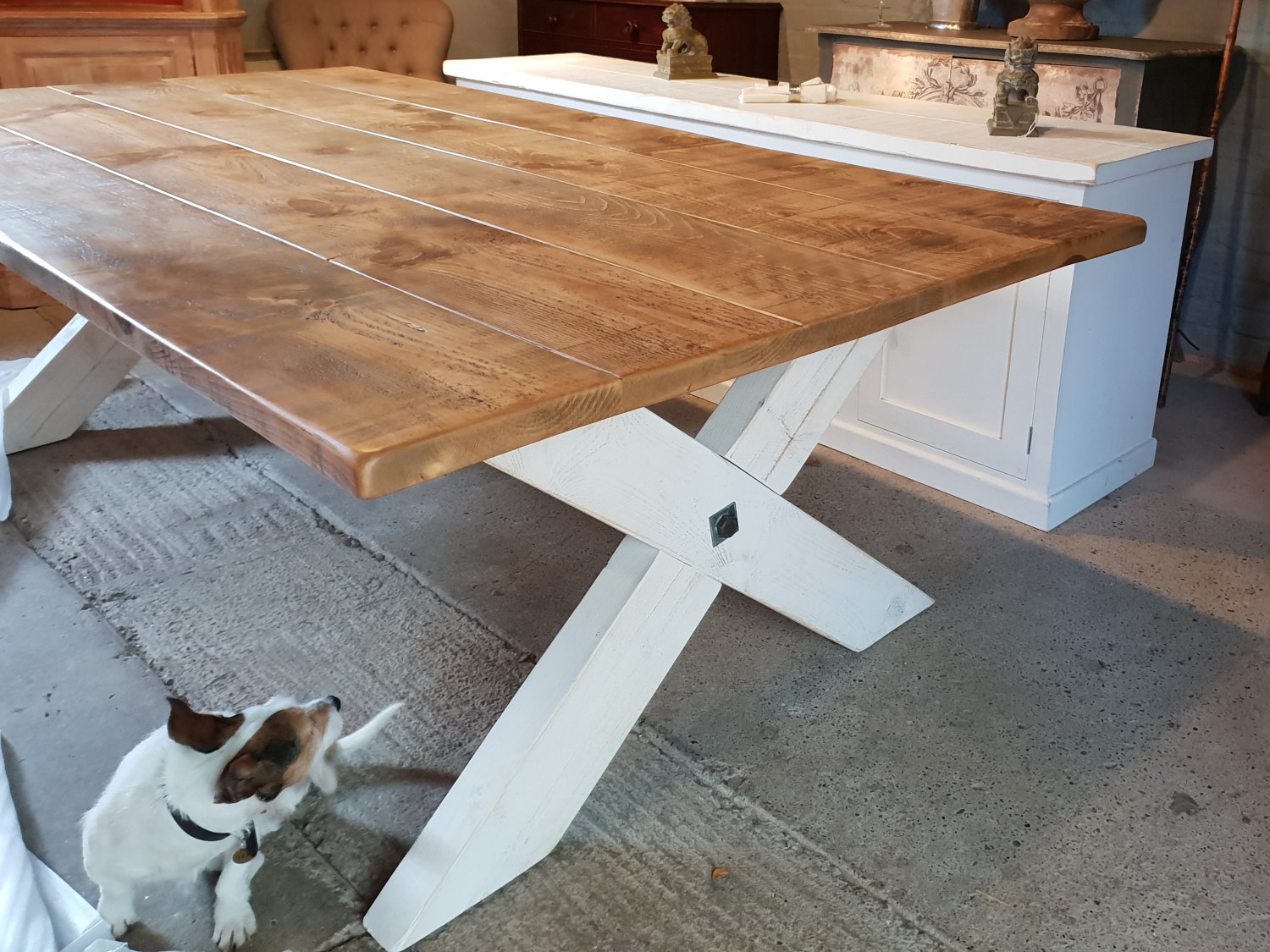 We are delivering this large X frame table to Hampshire today.