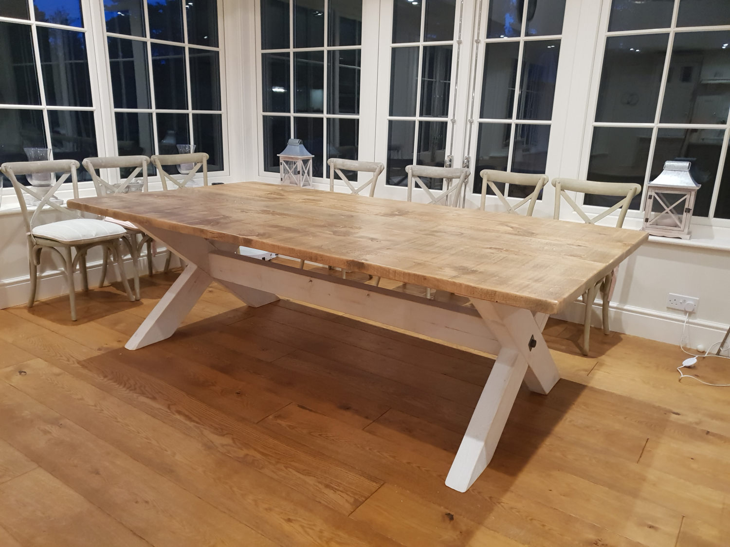 And finally our large X frame table moves into its new home!