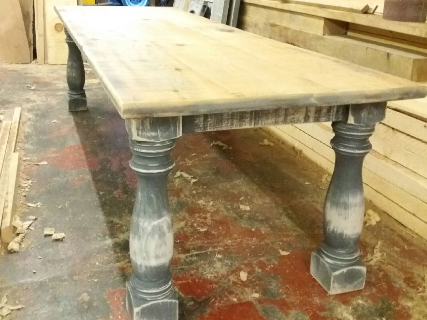 Our client designed her own table.