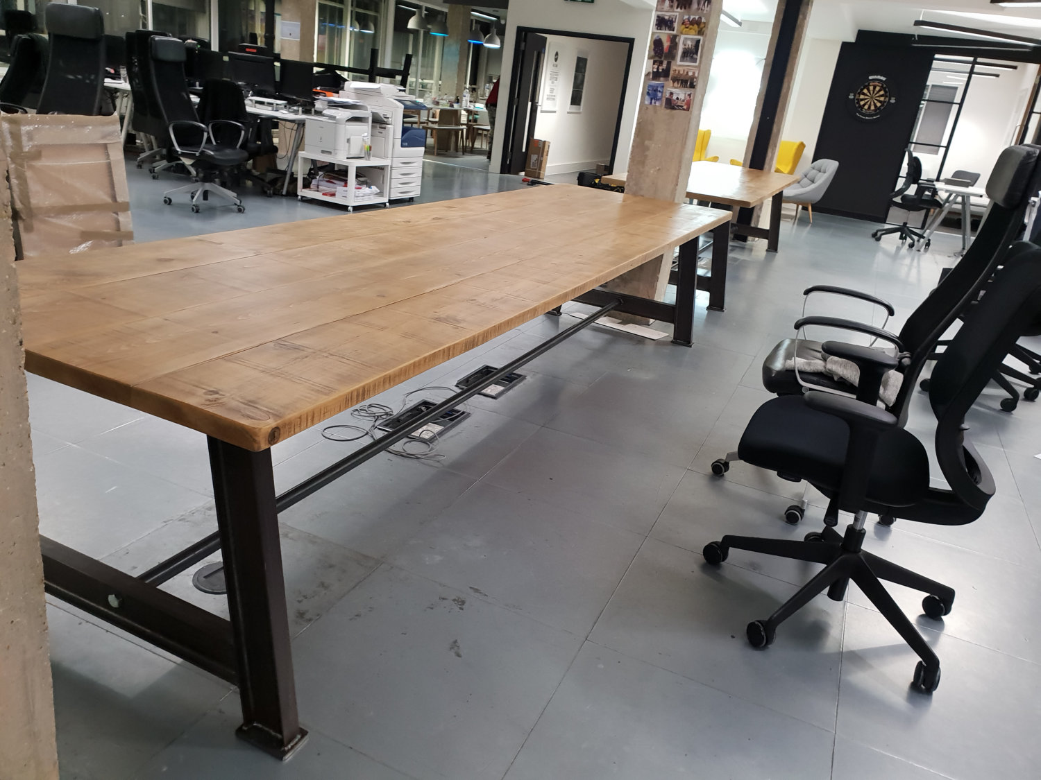Another Busy Day Installing These Bespoke Office Tables