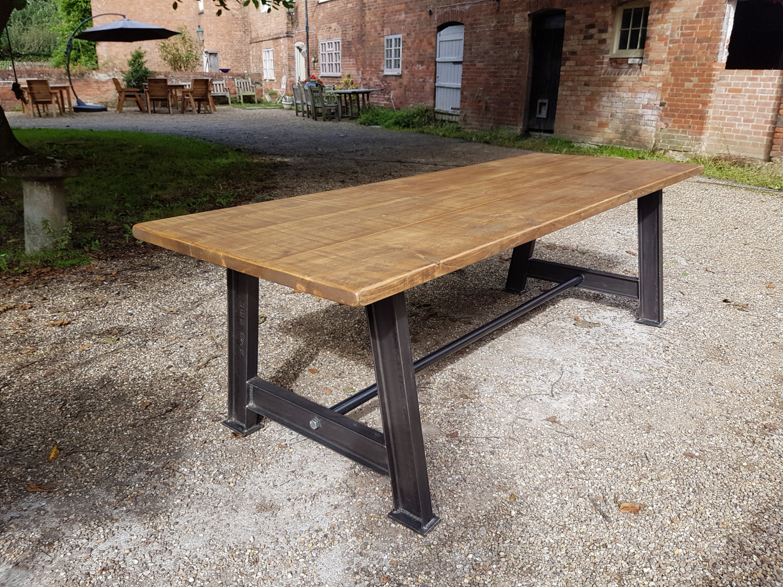 Our Heavy Steel Girder Leg Table