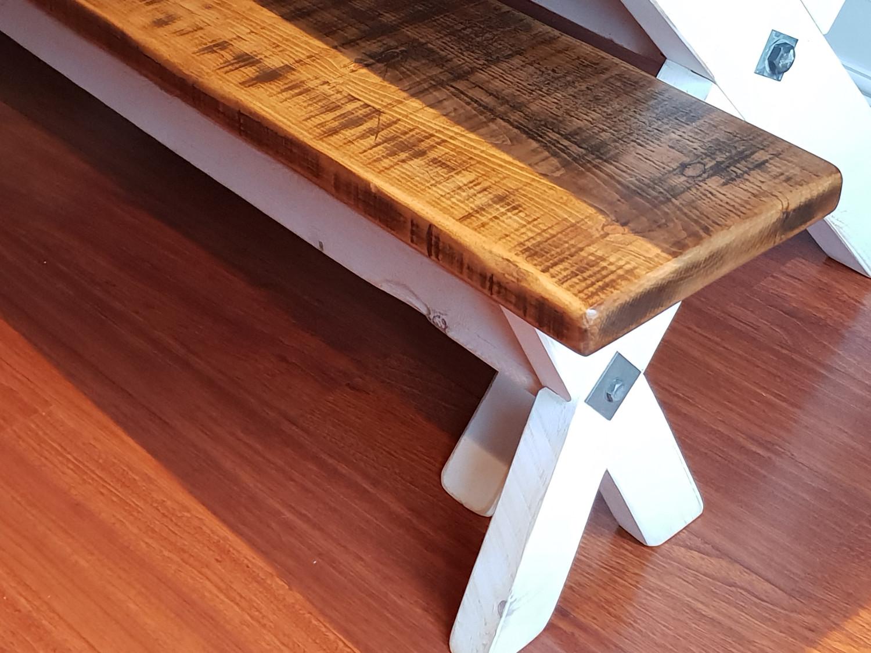 "Hand Made ""X"" Frame Bench"