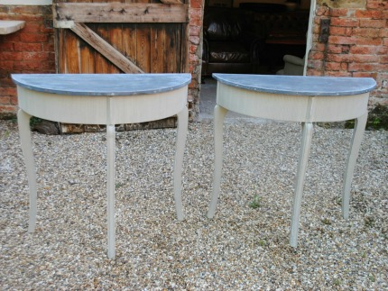 Zinc Top Side Table