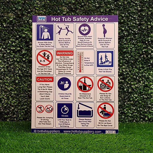 Correx Hot Tub Safety Sign A3