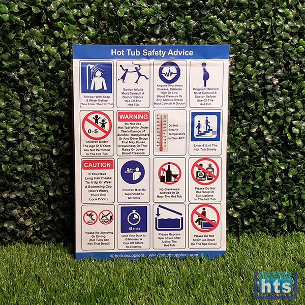 Correx Hot Tub Safety Sign