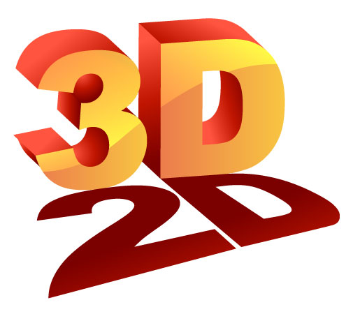 2D and 3D icon