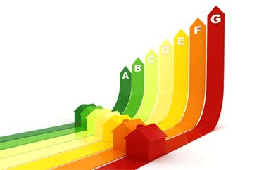 Houses on a colour spectrum A-G