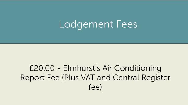 Lodgement fees