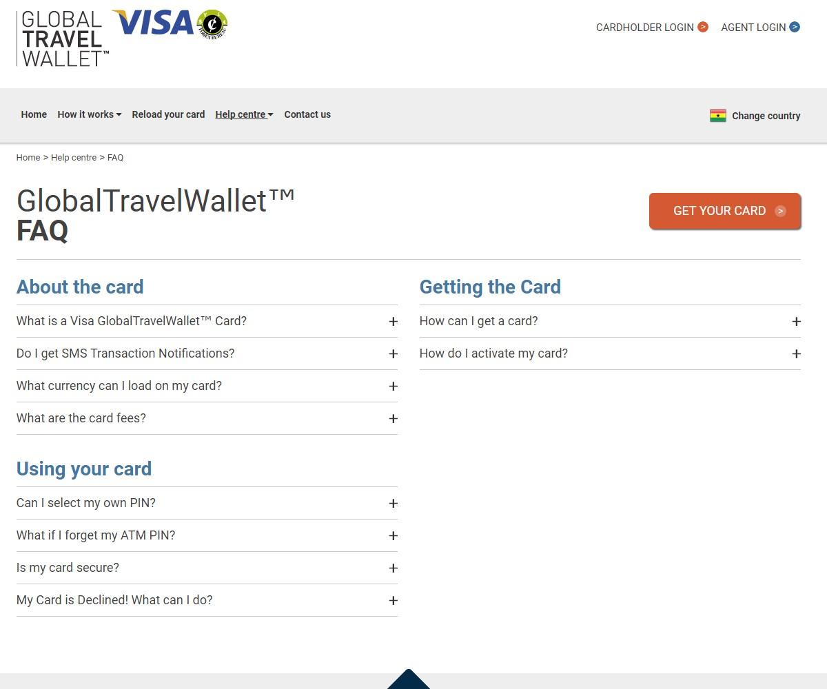 Web Design   GlobalTravelWallet