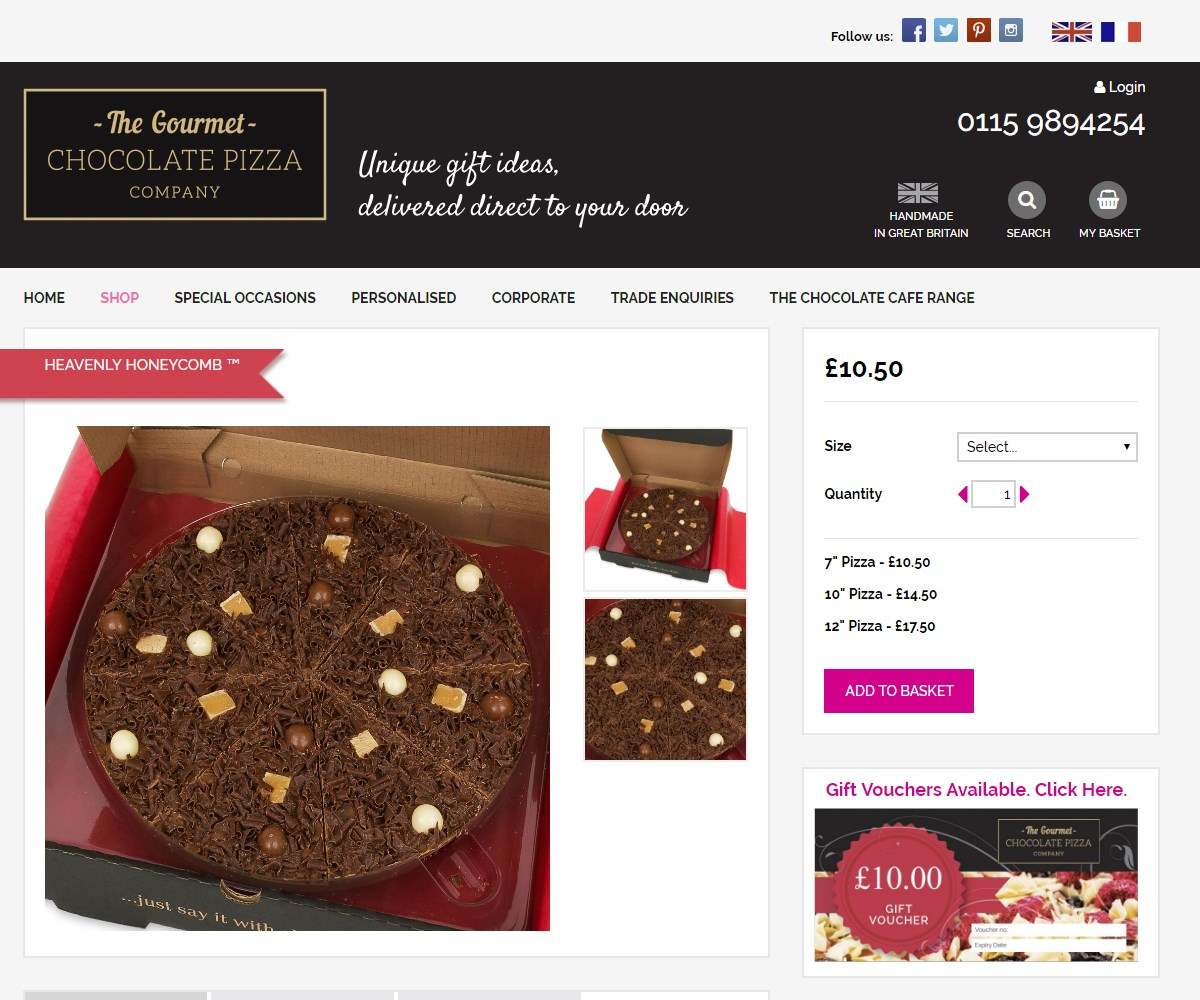 Web Design | GourmetChocolatePizza