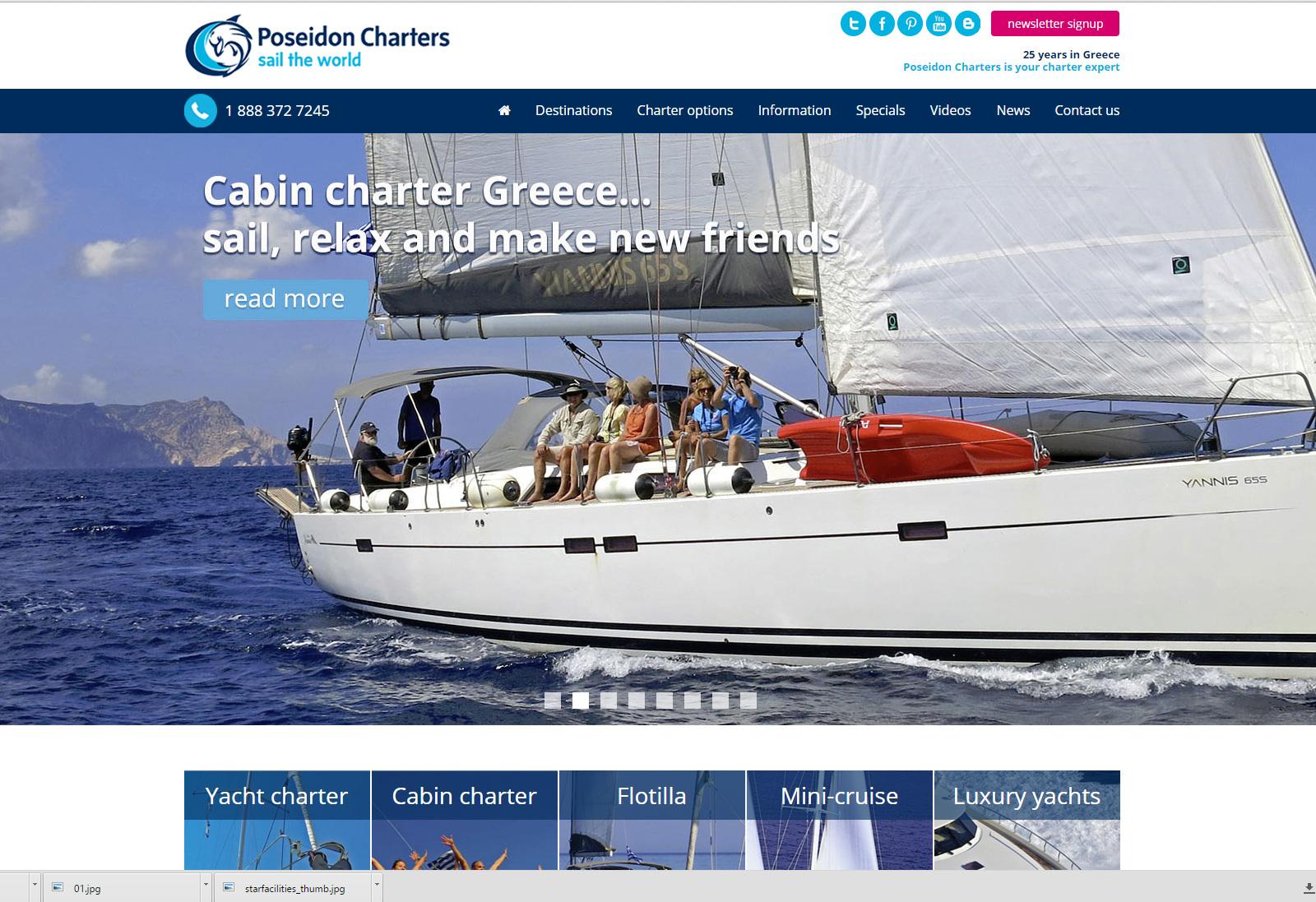 Web Design | PoseidonCharters