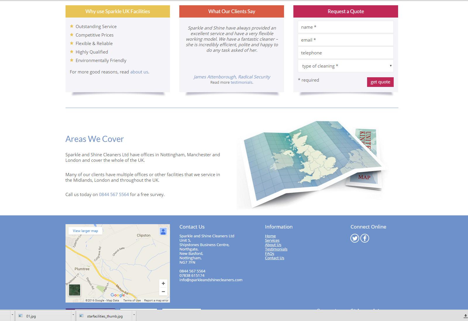 Web Design | SparkleAndShine