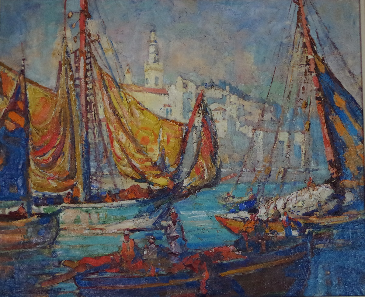 Boats in the Harbour in Menton
