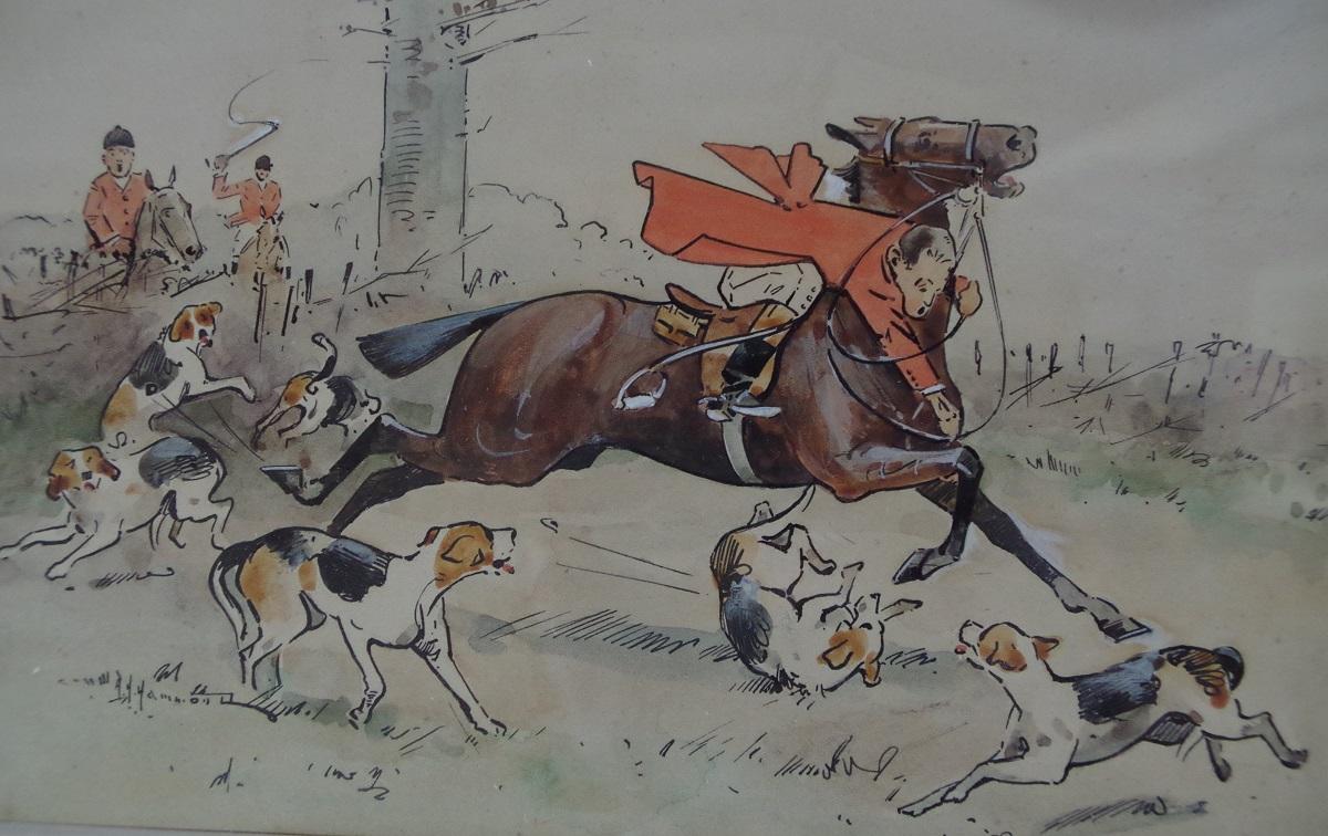 Huntsmen at full gallop