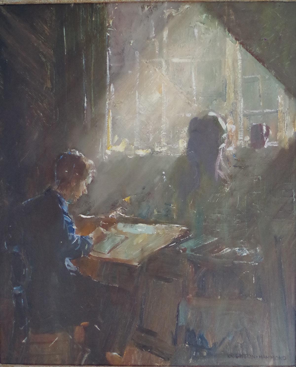 John in his study
