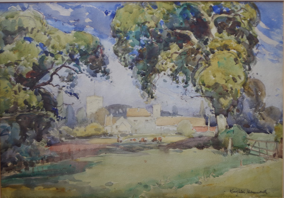 Village scene from the meadows