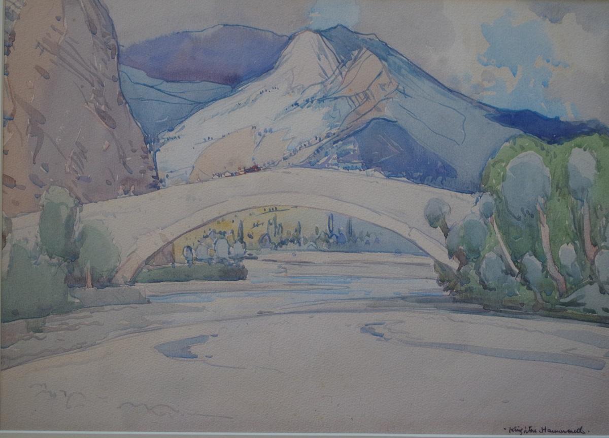 River, Bridge and Mountains