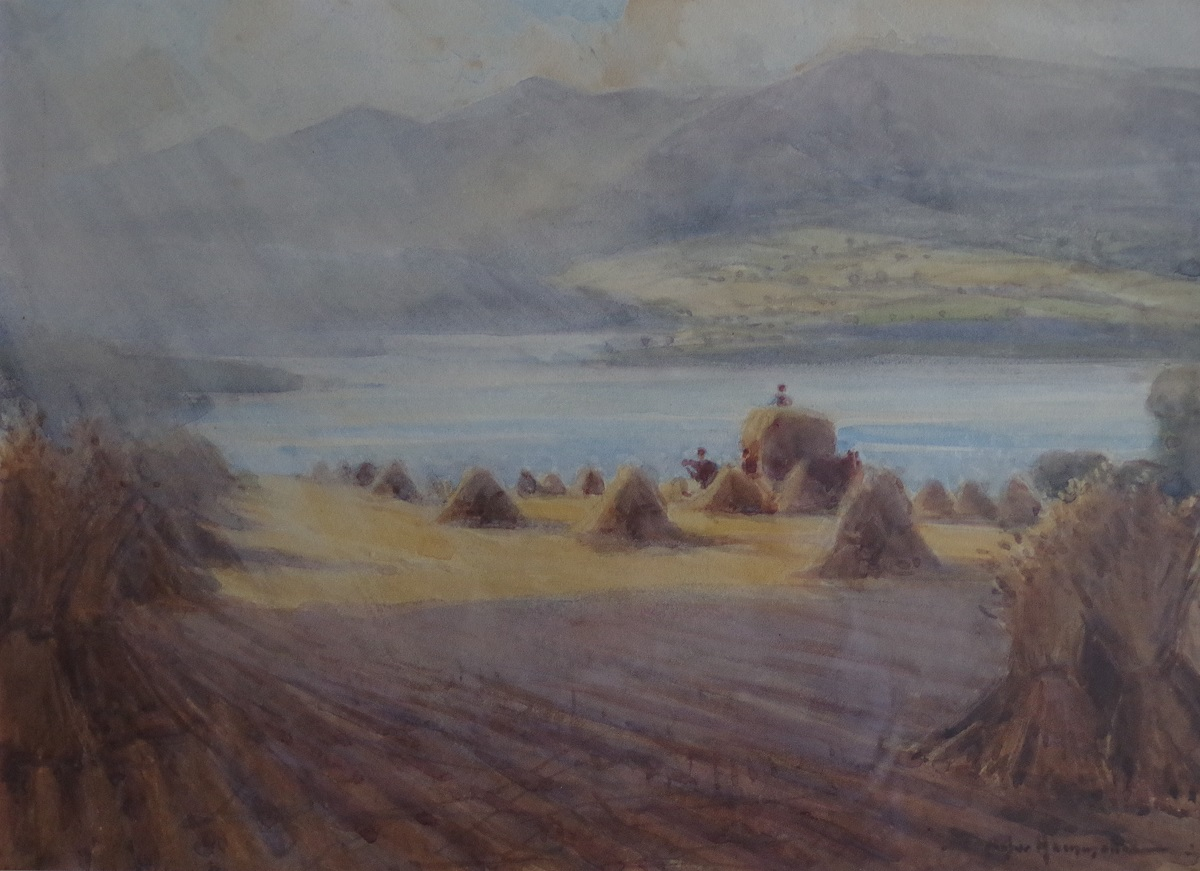 Landscape with valley and hills
