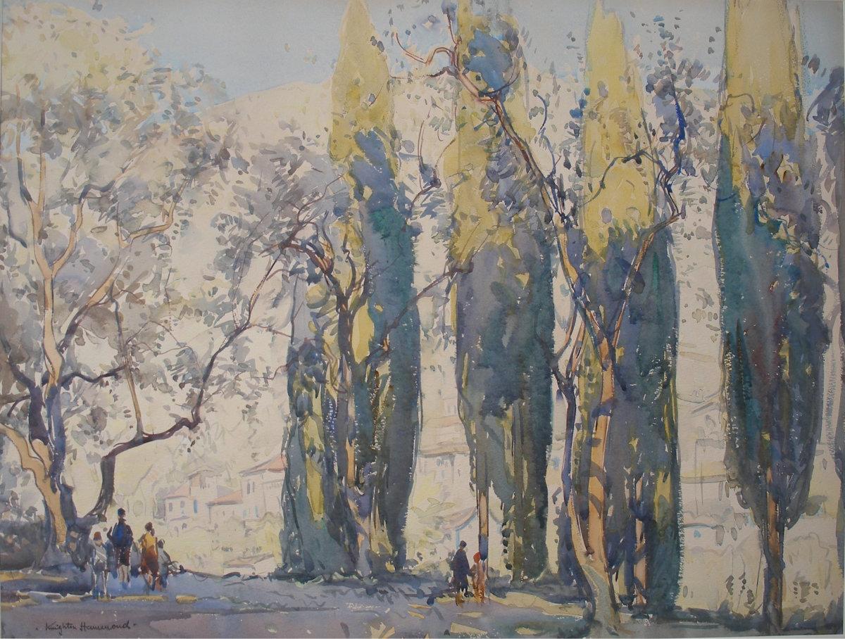 Cypress & Olive Trees, Menton