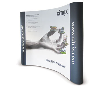 Example of popup stands: Citrix.
