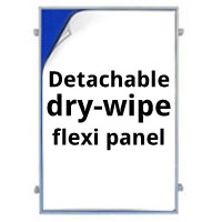 Dry-wipe Detachable Flexi Panel for 900 x 600mm Boards