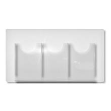 Cable & Rod 3 x 1/3 A4 Leaflet Dispensers (For A2 Displays)