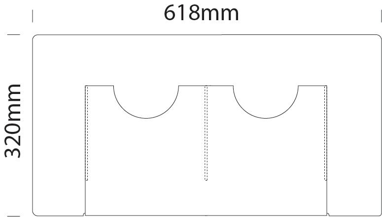 Leaflet dispenser 2x A4 portrait - Cable Displays