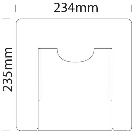 A5 single leaflet holder for A4 portrait cable displays