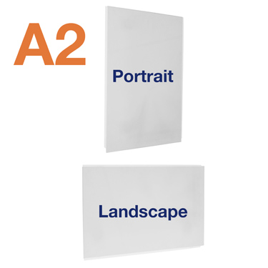 A2 pocket available in portrait or landscape