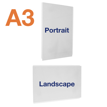 A3 portrait or landscape easy access posters